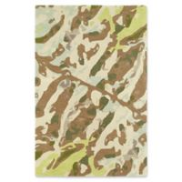 Kaleen Pastiche Watercolor 5-Foot x 7-Foot 9-Inches Area Rug in Light Brown