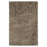 Kaleen Pastiche Topography 9-Foot x 12-Foot Area Rug in Taupe