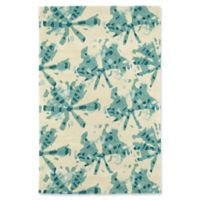 Kaleen Pastiche Webs 9-Foot x 12-Foot Area Rug in Turquoise