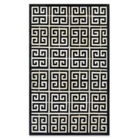 Couristan® Chalet Meander 9-Foot 6-Inch x 13-Foot Area Rug in Black/Ivory