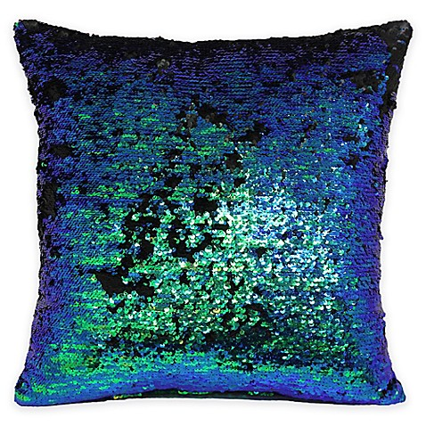 Bed Bath And Beyond Orange Throw Pillows : Mermaid Sequin Throw Pillow - Bed Bath & Beyond