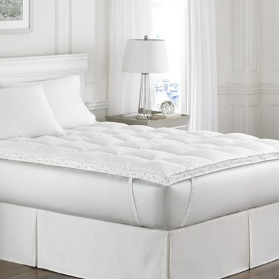laura ashley abbeville down alternative queen bed topper in white