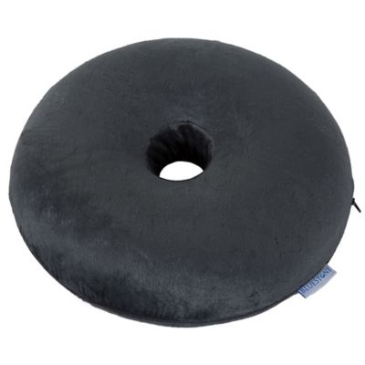 Bluestone Memory Foam Donut Cushion With Zippered Cover In Grey