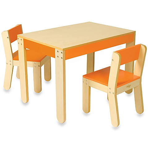 Buy P Kolino 174 Little One S Orange Table And Chairs From