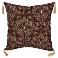 Bombay® Royal Zanzibar 16-Inch Square Outdoor Throw Pillow with Tassels in Berry