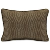 Bombay® Zebra 15-Inch x 22-Inch Outdoor Oversize Lumbar Pillow with Welt in Tan