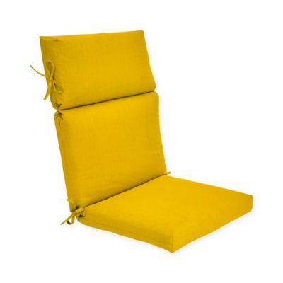 Charming Forsyth Outdoor High Back Cushion In Lemon