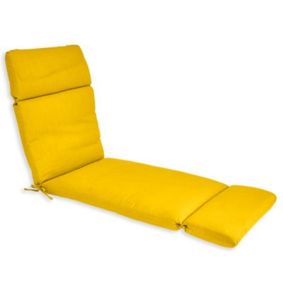 forsyth outdoor chaise cushion in lemon