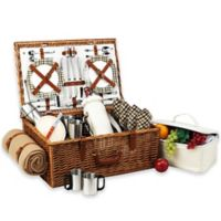 Picnic At Ascot Dorset Basket for 4 with Coffee Set & Blanket in London