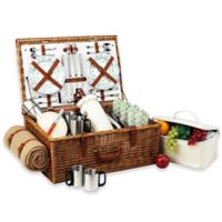 Picnic At Ascot Dorset Basket for 4 with Coffee Set & Blanket in Gazebo