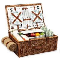 Picnic At Ascot Dorset Basket for 4 with Blanket in Gazebo