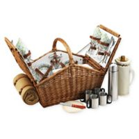 Picnic At Ascot Huntsman Basket for 4 with Coffee & Blanket in Gazebo