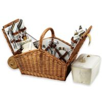 Picnic At Ascot Huntsman Basket for 4 with Blanket in Santa Cruz