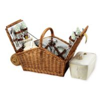 Picnic At Ascot Huntsman Basket for 4 with Blanket in Gazebo