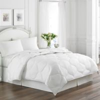 Laura Ashley® Trellis Quilted Down Alternative King Comforter in White