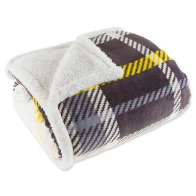 buy grey fleece blanket from bed bath beyond