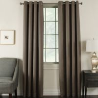 Brinkley 84-Inch Grommet Top Room Darkening Window Curtain Panel in Walnut