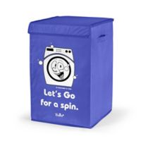 "Bonita NUE ""Let's Go Spin"" Happy Laundry Basket in Blue"