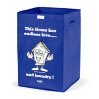 "Bonita NUE ""Endless Love"" Happy Laundry Basket in Blue"
