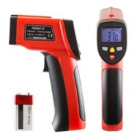 Non-Contact Digital Infrared Laser Thermometer in Red