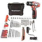 75-Piece 12 Volt Lithium Ion 2-Speed Drill Tool Set