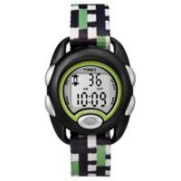 Timex® Time Machines Children's 34mm Digital Watch in Black with Green/Black/White Strap