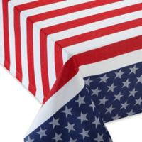 Stars & Stripes Jacquard 54-Inch Square Tablecloth
