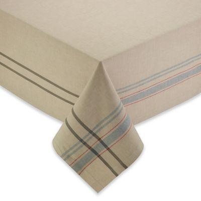 Charmant French 60 Inch X 84 Inch Stripe Oblong Tablecloth
