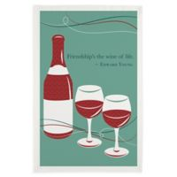 Friendship Wine Printed Dish Towels (Set of 3)