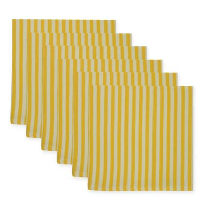 Petite Stripe Dish Towel In Canary Yellow (Set Of 6)