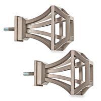 Cambria® Premier Complete Square Birdcage Finials in Graphite (Set of 2)