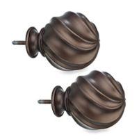 Cambria® Elite Twist Ball Finials in Oil Rubbed Bronze (Set of 2)