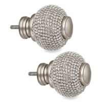 Cambria® Premier Complete Twinkle Ball Finials in Polished Nickel (Set of 2)