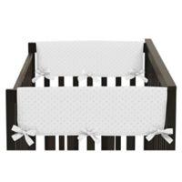 Sweet Jojo Designs Minky Dot Side Crib Rail Guard Covers (Set of 2) in White