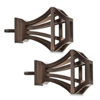 Cambria® Premier Complete Square Birdcage Finials in Oil Rubbed Bronze (Set of 2)