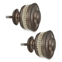 Cambria® Premier Complete Banded Finials in Oil Rubbed Bronze (Set of 2)