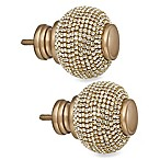 Cambria® Premier Complete Twinkle Ball Finials in Warm Gold (Set of 2)