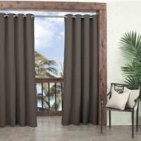 Parasol Key Largo 108-Inch Grommet Top Window Curtain Panel in Smoke