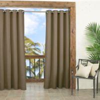 Parasol Key Largo 108-Inch Grommet Top Window Curtain Panel in Caramel