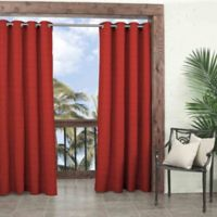 Parasol Key Largo 84-Inch Grommet Top Window Curtain Panel in Chili