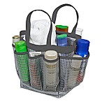 Mesh Shower Tote in Grey/Charcoal