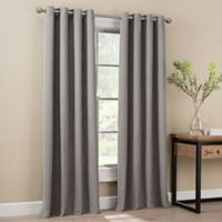 Orion 63-Inch Grommet Top Window Curtain Panel in Grey