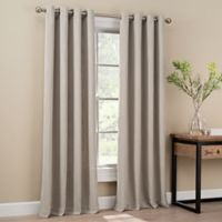 Orion 63-Inch Grommet Top Window Curtain Panel in Stone