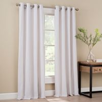 Orion 84-Inch Grommet Top Window Curtain Panel in White