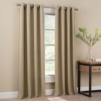 Orion 108-Inch Grommet Top Window Curtain Panel in Linen