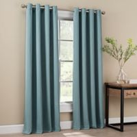 Orion 63-Inch Grommet Top Window Curtain Panel in Blue