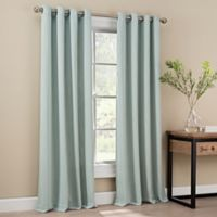 Orion 63-Inch Grommet Top Window Curtain Panel in Spa