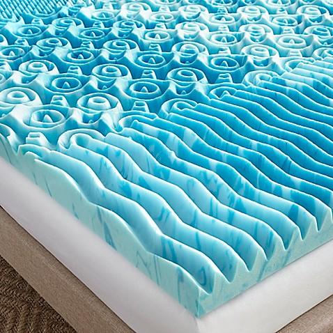Lane 3 Inch Gellux Gel Memory Foam Mattress Topper In Blue