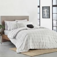 Lacoste Hegoa Full/Queen Duvet Cover Set in White/Grey
