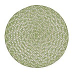Braided Round Placemats in Green (Set of 6)